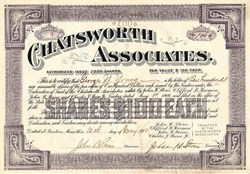 Chatsworth Associates - Massachusetts 1910