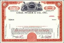 Chas. Pfizer & Co., Inc. ( Now Pfizer Inc - Viagra Maker ) - Specimen