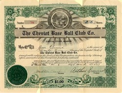 Cheviot Base Ball Club Co. - Ohio 1923