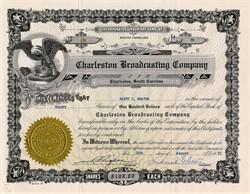 Charleston Broadcasting Company (WHAM &  WOKE Radio Station ) signed by Frederick G. Storey - Charleston, South Carolina 1955