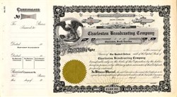 Charleston Broadcasting Company (WHAM & WOKE Radio Station ) - Charleston, South Carolina 1955