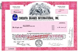 Chiquita Brands International, Inc. (Pre Bankruptcy)  - New Jersey 2002