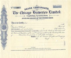 Chicago Breweries Limited - England 1889