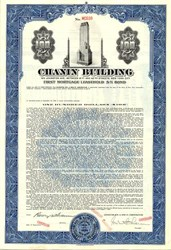 Chanin Building signed by Irwin Chanin - New York 1945