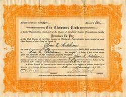 Charmas Club - Pittsburgh, Pennsylvania 1922