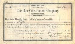 Cherokee Construction Company of the State of Illinois - Illinois 1887