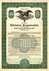 Christen Corporation Gold Debenture - Detroit, Michigan 1931