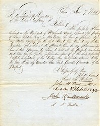 Letter to Directors of Cohoes Company signed by John Van Rensselaer and others dated 1848