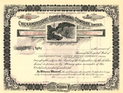 Chickamonstone Copper Mining Company, Limited. - British Columbia, Canada 1890's