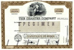 Charter Company( Became Spelling Entertainment Group Inc)  Specimen stock certificate - Florida 1979