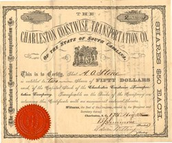 Charleston Coastwise Transportation Co. - South Carolina 1875