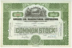 Checker Cab Manufacturing Corporation 1931