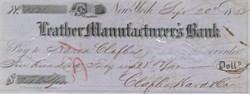 Leather Manufacturer's Bank 1850's - Slave Insurance Bank w/Dog Vignette