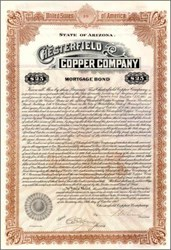 Chesterfield Copper Company 1912 - Bond