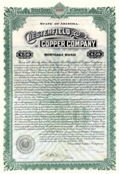 Chesterfield Copper Company 1912 - Arizona