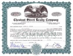 Chestnut Street Realty Company - 1958