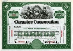 Chrysler Corporation (K. T. Keller as President)  - RARE Specimen - 1932