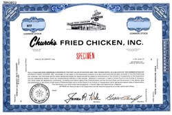 Church's Fried Chicken, Inc. (IPO Certificate)  - Texas