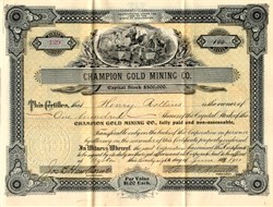 Champion Gold Mining Co. - Washington 1901