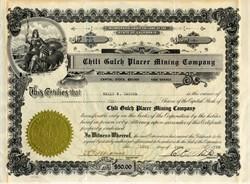 Chili Gulch Placer Mining Company - California, 1926