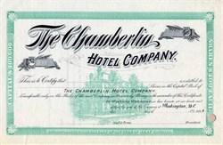 Chamberlin Hotel Company - Washington DC / West Virginia1894