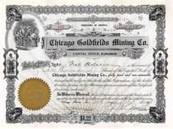 Chicago Goldfields Mining Co. 1908 - Nye. Esmeralda Territory of Arizona