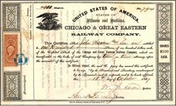 Chicago & Great Eastern Railway Company 1867