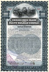 Chicago, Rock Island and Pacific Railroad Company 1902 - 100 Year Gold Bond