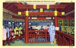 Chinese Telephone Exchange, Chinatown - San Francisco, California Postcard