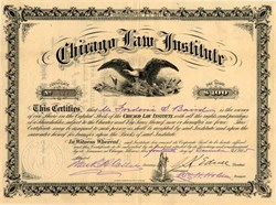 Chicago Law Institute - Illinois 1885