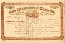 Charleston Lead Company (lead shot maker) - South Carolina 1891