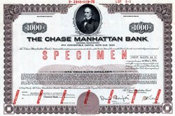 Chase Manhattan Bank (Convertible Note Bond)  - New York 1970