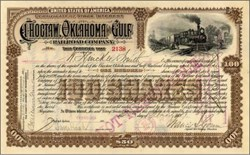 Choctaw, Oklahoma and Gulf Railroad Company 1890's