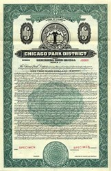 Chicago Park District Refunding Bond - Illinois 1944