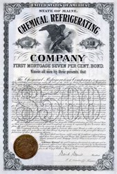 Chemical Refrigerating Company - Maine 1895