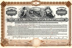 Chicago, Rock Island and Gulf Railway Company $50000 Bond - Amarillo Division - United States 1904