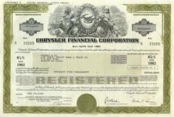 Chrysler Financial Corporation Bond Certificate - 1982