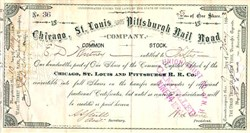 Chicago, St. Louis and Pittsburgh Railroad Company 1883 - Indiana