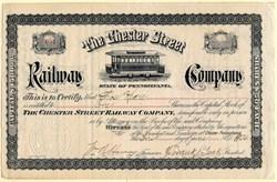 Chester Street Railway Company - Pennsylvania 1904