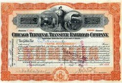 Chicage Terminal Transfer Railroad Company signed by Robber Baron, E.H. Harriman - 1901