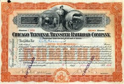 Chicago Terminal Transfer Railroad Company signed by E. H. Harriman-  Illinois 1901