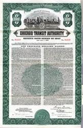 Chicago Transit Authority - $1000 Revenue Bond uncancelled - Illinois 1947