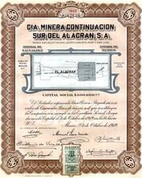 Cia Minera Continuacion Sur del Al Acaran, S.A. - Mexico 1919
