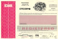 Citicorp Bond Specimen - Delaware 1989