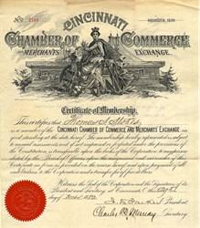 Cincinnati Chamber of Commerce and Merchants Exchange - Ohio 1882