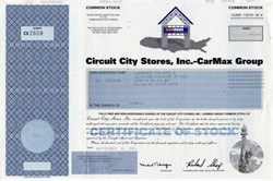 Circuit City Stores, Inc.- CarMax Group (Circuit City was liquidated in 2009) - 2001