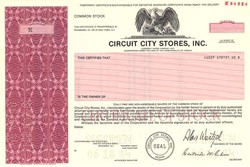 Circuit City Stores, Inc. (Pre bankruptcy and liquidation) - Virginia 1984