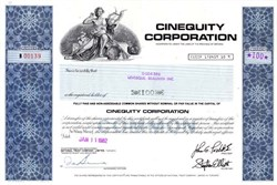 Cinequity Corporation - Ontario, Canada 1982 - ( Motion Picture Production  Company )