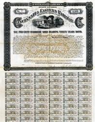 Cincinnati & Eastern Railway Company (Uncancelled Gold Bond)  - Ohio 1886