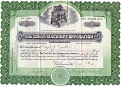 Cigar Machine Corporation 1913